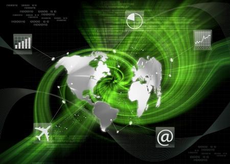 heaven on earth: global Communications Business Stock Photo