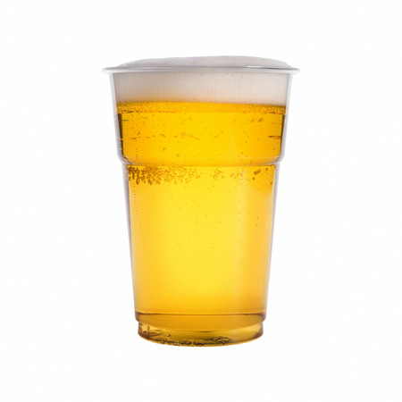 glass of beer isolated on white background photo