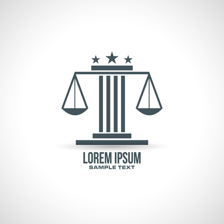 lawfulness: law abstract icon design