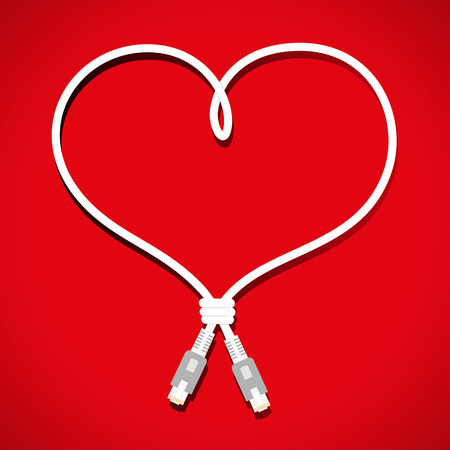 cabling:   cable heart design