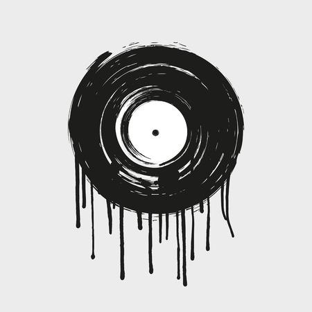 Vinyl painting dripping art