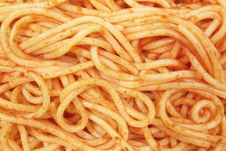 close up top view spaghetti pasta macro Stok Fotoğraf