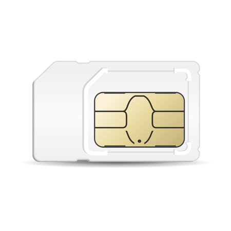 Sim card mobile silhouette in vector format