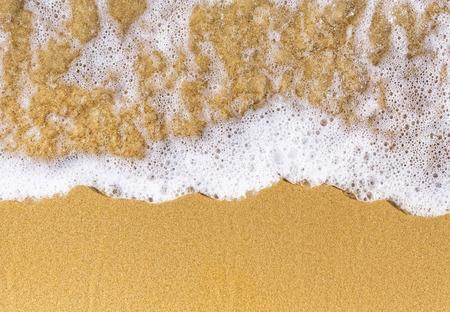 close up sand sea natural top view