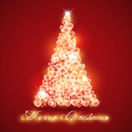 Merry Christmas card love abstract  Çizim
