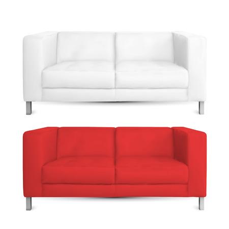 sofa couch realistic design  Çizim
