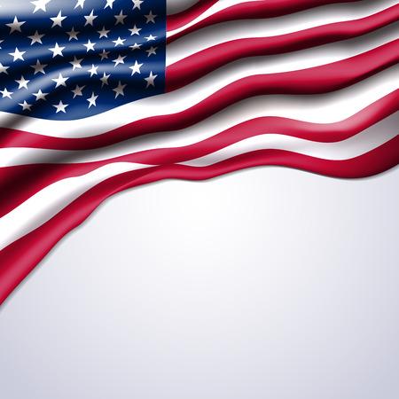 american flag realistic design in vector format Çizim