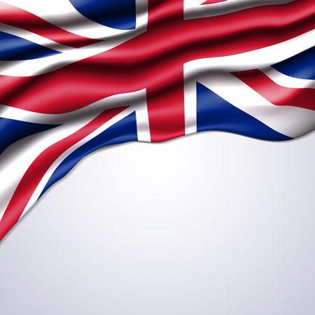 union jack flag realistic design in vector format  イラスト・ベクター素材