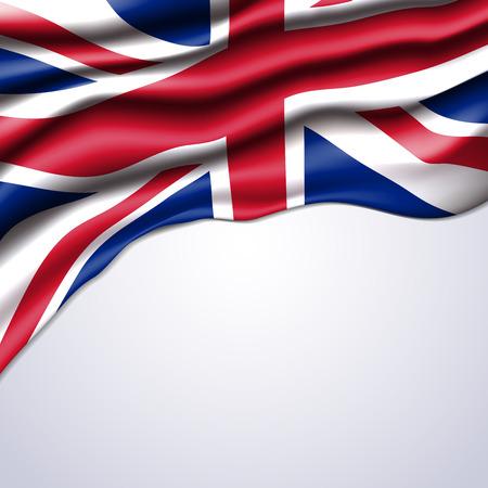 union jack flag realistic design in vector format Stock Illustratie