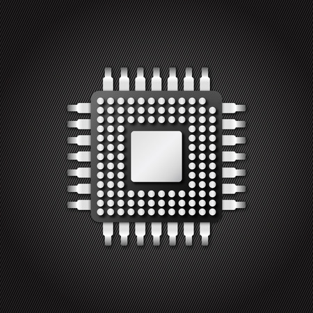 chipset: chip microchip cpu icon in vector design