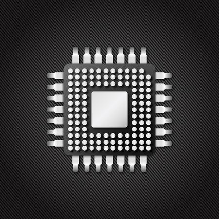 chip microchip cpu icon in vector design
