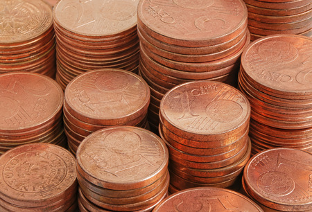 Close up coins money group full background Stok Fotoğraf