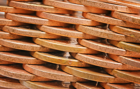 coins pile: close-up of wall coins pile plot