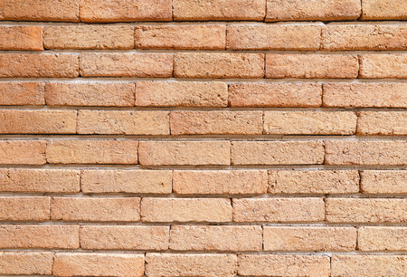 closeup of red brick wall background texture