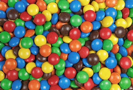 top view of candy chocolate multicolor background