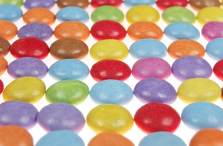 side view multicolor candy isolated on white background Stok Fotoğraf