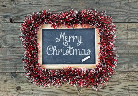 Blackboard chalkboard Merry Christmas holiday concept design Stok Fotoğraf