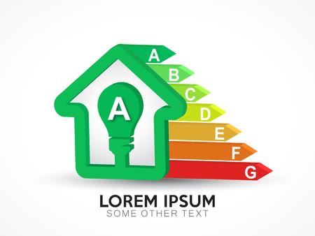 Energy efficiency certification logo in vector format