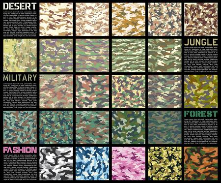 Ensemble de motifs de camouflage Vecteurs