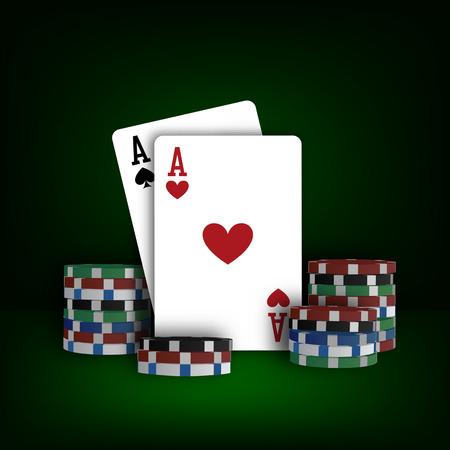 Casino poker design template in vector format