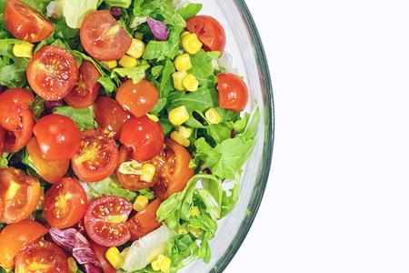 Closeup of fresh mixed vegetables in bowl Stok Fotoğraf