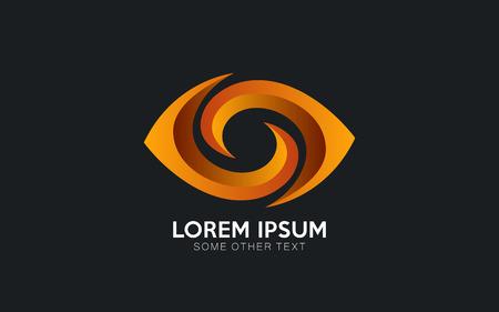 Disegno di marchio dell'occhio in formato vettoriale Vettoriali