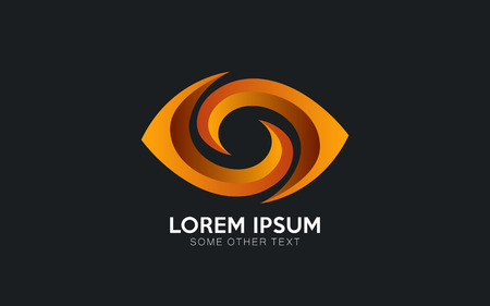Eye logo design in vector format Illustration