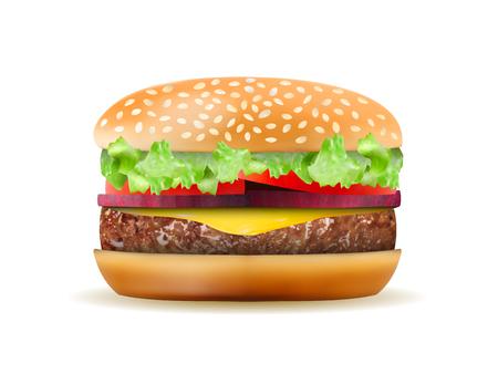Realistic Hamburger in vector format