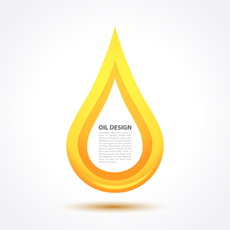 oil drop icon design in vector format