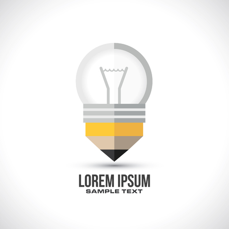 Pencil bulb design concept in vector format Stok Fotoğraf - 122216006