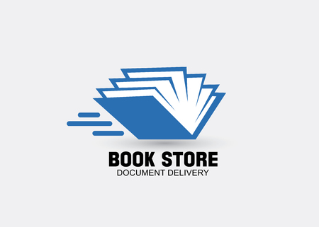 book  delivery concept design in vector format