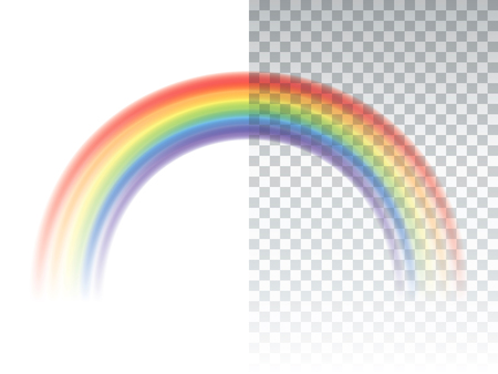 Rainbow icon isolated on transparent background realistic vector  Çizim