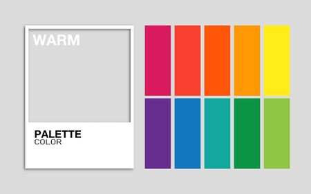 Trendy palette color warm in vector format