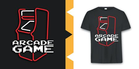 Graphic Arcade game T-shirt Design in vector format