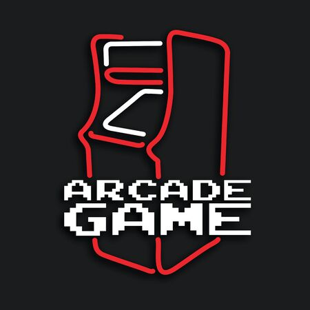 Arcade game machine cabinet in vector format