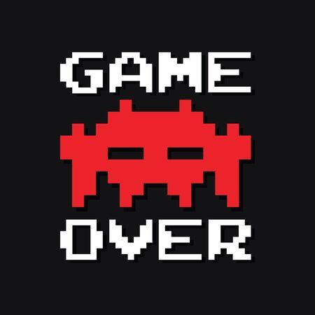 Graphic vintage arcade game vector in vector format