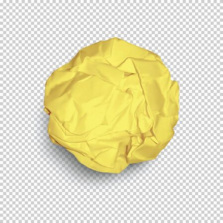 Paper ball isolated on transparent background in vector format Çizim