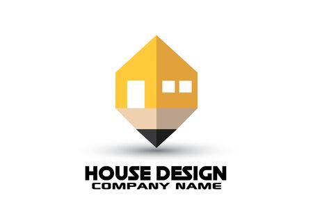 House concept   design in vector format Illustration