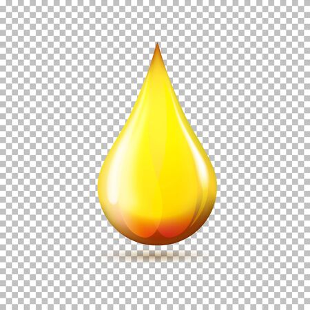 Oil drop icon on transparent background in vector format