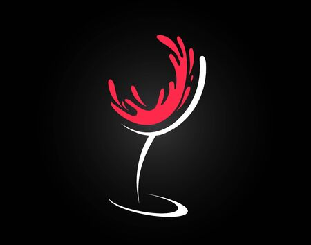 Wine glass concept design in vector format