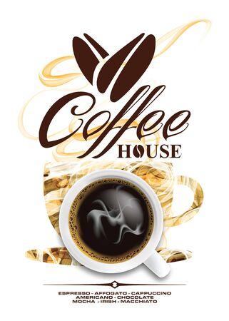 Idea design menu for coffee cup in vector format