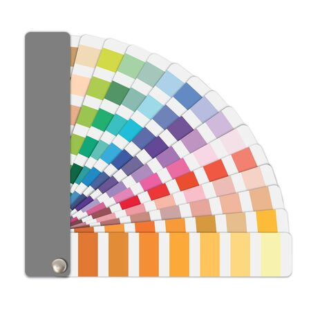 Color sample guide in vector format