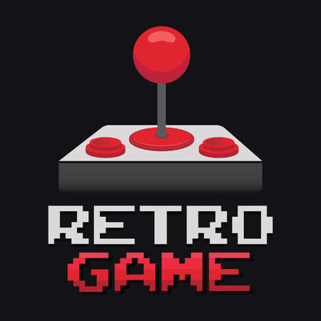 Arcade game controller joystick in vector format