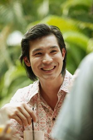 metrosexual: Young man smiling,portrait