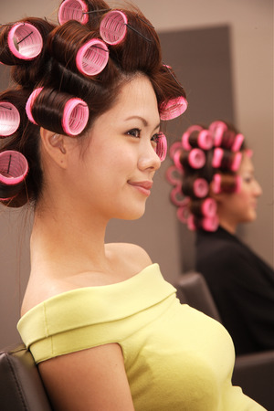 Young women at beauty salon