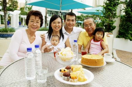 three generation: Three generation family, family portrait LANG_EVOIMAGES
