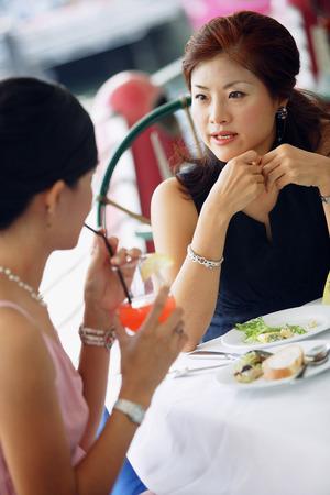 having lunch: Two women having lunch