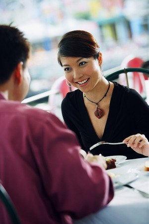 having lunch: Couple having lunch at restaurant
