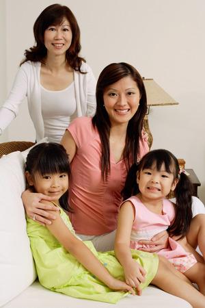 three generations: Three generations of females, looking at camera, portrait