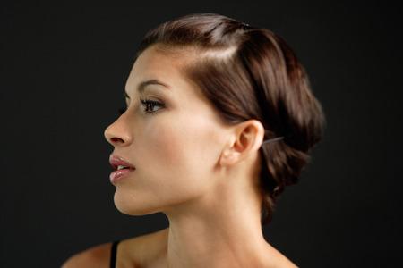 woman profile: Woman looking away, profile